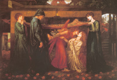 Dante Gabriel Rossetti, Dante's Dream at the Time of the Death of Beatrice Fine Art Reproduction Oil Painting