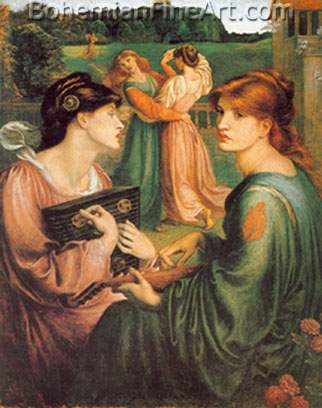 Dante Gabriel Rossetti, The Bower Meadow Fine Art Reproduction Oil Painting