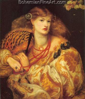 Dante Gabriel Rossetti, Monna Vanna Fine Art Reproduction Oil Painting