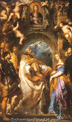 Peter Paul Rubens, The Madonna Di Vallicella Fine Art Reproduction Oil Painting