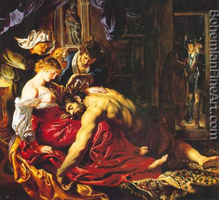 Peter Paul Rubens, Samson and Delilah Fine Art Reproduction Oil Painting