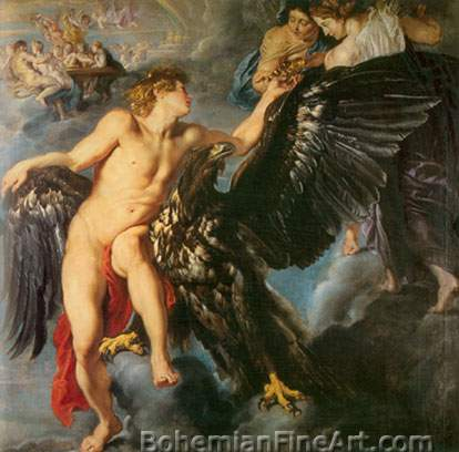 Peter Paul Rubens, Ganymede and the Eagle Fine Art Reproduction Oil Painting