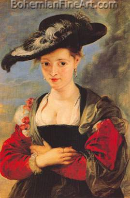 Peter Paul Rubens, Le Chapeau de Paille Fine Art Reproduction Oil Painting