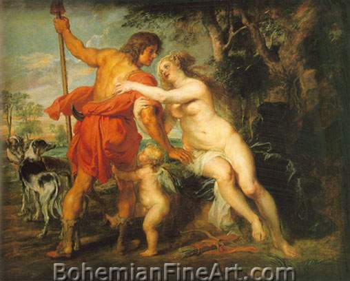 Peter Paul Rubens, Venus and Adonis Fine Art Reproduction Oil Painting