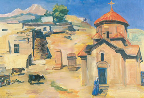 Matiros Saryan, Karmravor Church. Ashtarak Fine Art Reproduction Oil Painting