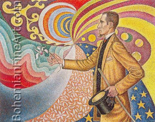 Paul Signac, Portrait of Felix Feneon Fine Art Reproduction Oil Painting