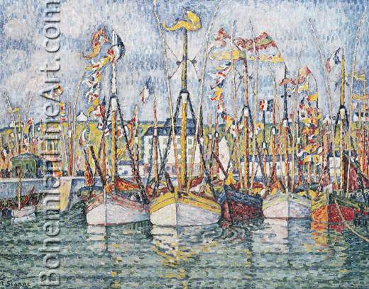 Paul Signac, Blessing of the Tuna Boats, Groix Fine Art Reproduction Oil Painting