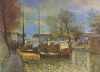 Alfred Sisley, Saint Martin Canal in Paris Fine Art Reproduction Oil Painting