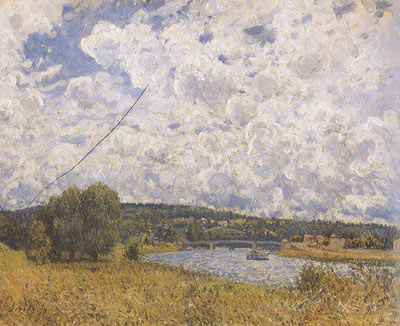 Alfred Sisley, The Seine at Suresnes Fine Art Reproduction Oil Painting