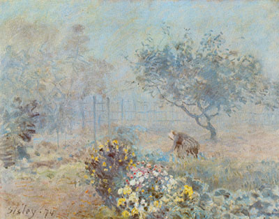 Alfred Sisley, Misty Morning Fine Art Reproduction Oil Painting