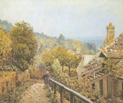 Alfred Sisley, Sentier de la Mi-Cote Louveciennes Fine Art Reproduction Oil Painting