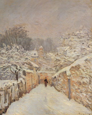 Alfred Sisley, Snow at Louveciennes Fine Art Reproduction Oil Painting