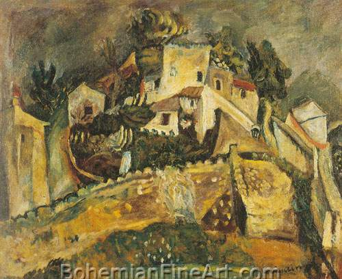 Chaim Soutine, Landscape at Cagnes Fine Art Reproduction Oil Painting