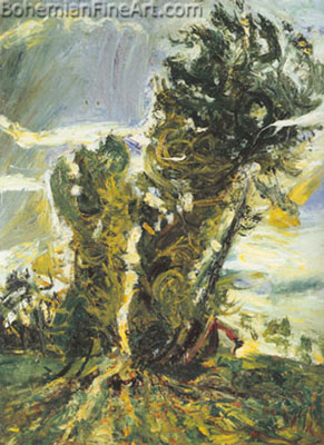 Chaim Soutine, Large Poplars at Civry Fine Art Reproduction Oil Painting
