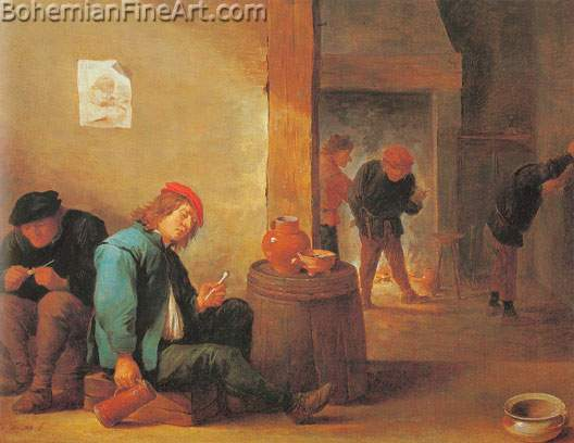 David Teniers the Younger, Smokers in an Inn Fine Art Reproduction Oil Painting