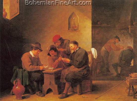 David Teniers the Younger, Card Players Fine Art Reproduction Oil Painting