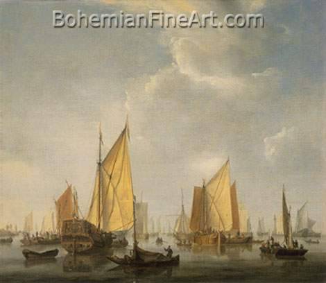 Willem Van De Velde the Younger, A States Yacht under Sail Fine Art Reproduction Oil Painting