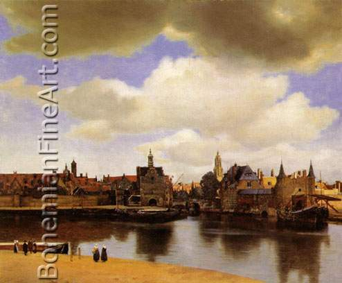 Johannes Vermeer, View of Delft Fine Art Reproduction Oil Painting