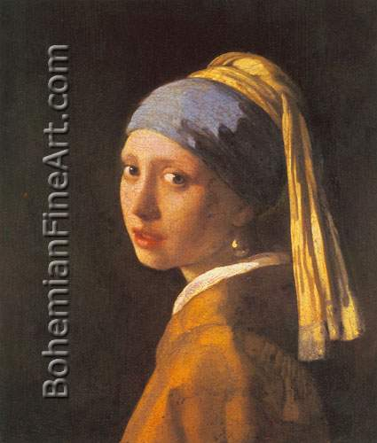 Johannes Vermeer, Girl with a Pearl Earring Fine Art Reproduction Oil Painting