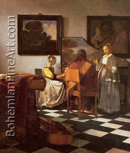 Johannes Vermeer, The Concert Fine Art Reproduction Oil Painting