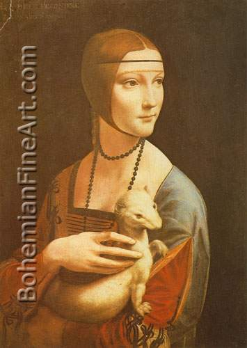 Leonardo Da Vinci, Cecilia Gallerani Fine Art Reproduction Oil Painting