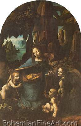 Leonardo Da Vinci, Madonna on the Rocks Fine Art Reproduction Oil Painting