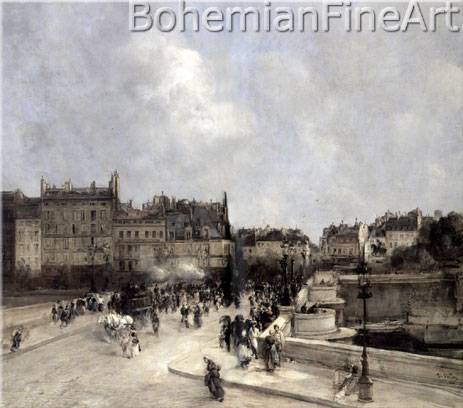 Antoine Vollon, The Pont-Neuf, Paris Fine Art Reproduction Oil Painting