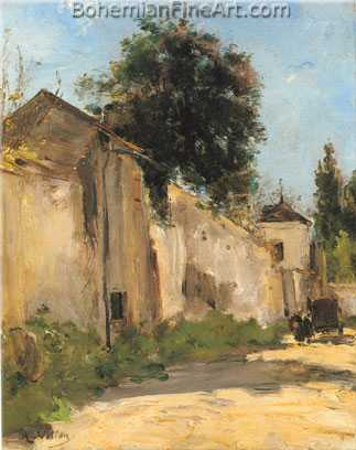 Antoine Vollon, A Road at Le Plessis-Piquet, near Fontenay Fine Art Reproduction Oil Painting