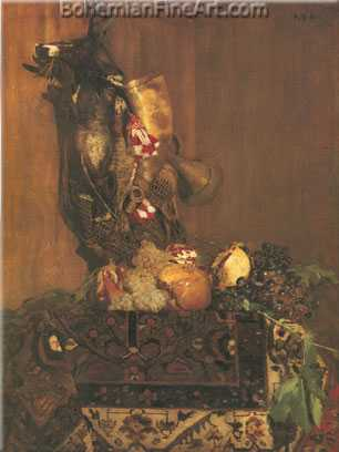 Antoine Vollon, Still Life with Game and Fruit Fine Art Reproduction Oil Painting