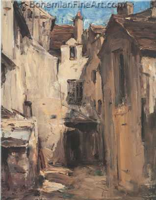 Antoine Vollon, Courtyard Fine Art Reproduction Oil Painting