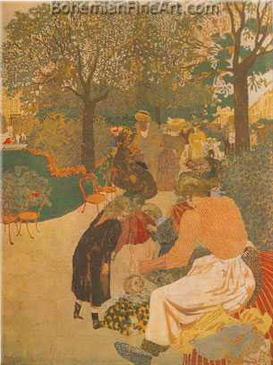 Edouard Vuillard, The Park Fine Art Reproduction Oil Painting