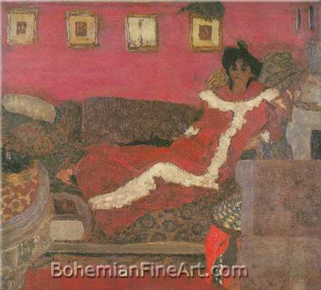 Edouard Vuillard, Symphony in Red Fine Art Reproduction Oil Painting