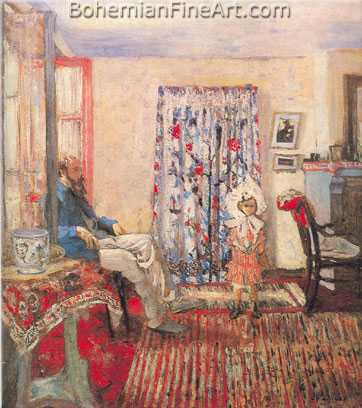 Edouard Vuillard, The Painter Ker-Xavier Roussel and His Daughter Fine Art Reproduction Oil Painting