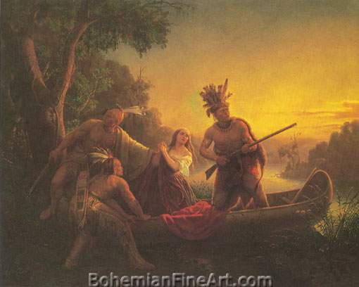 Carl Wimar, The Abduction of Daniel Boone's Daughter Fine Art Reproduction Oil Painting
