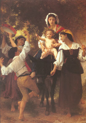 Adolphe-William Bouguereau, Return from the Harvest Fine Art Reproduction Oil Painting