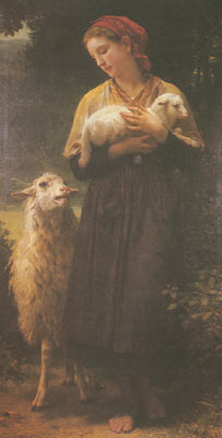Adolphe-William Bouguereau, The Shepherdess Fine Art Reproduction Oil Painting