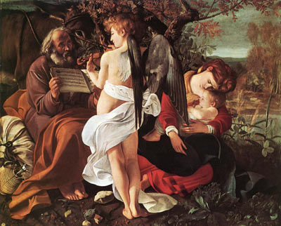 Michelangelo Caravaggio, Rest During the Flight to Egypt Fine Art Reproduction Oil Painting