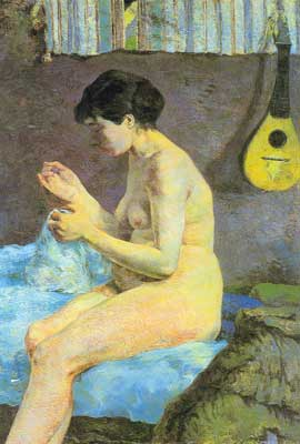 Paul Gauguin, Suzanne Sewing Fine Art Reproduction Oil Painting