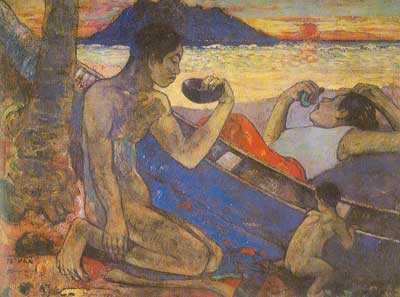 Paul Gauguin, The Dug-Out Fine Art Reproduction Oil Painting