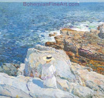 Childe Hassam, The South Ledges, Appeldore Fine Art Reproduction Oil Painting