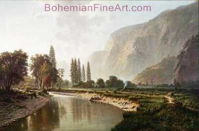 William Marple, Yosemite Valley Fine Art Reproduction Oil Painting