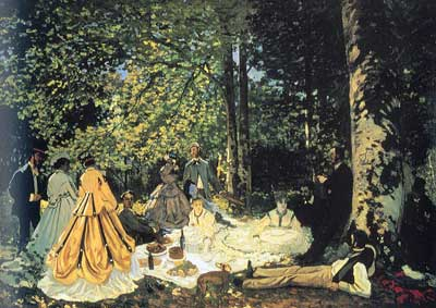 Claude Monet, Luncheon on the Grass Fine Art Reproduction Oil Painting