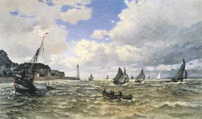 Claude Monet, Mouth of the Seine at Honfleur Fine Art Reproduction Oil Painting