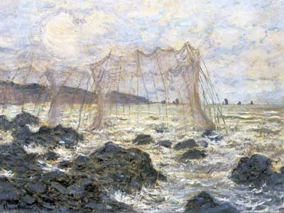 Claude Monet, Fishing Nets at Pourville Fine Art Reproduction Oil Painting