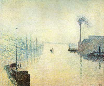 Camille Pissarro, River-Early Morning Fine Art Reproduction Oil Painting