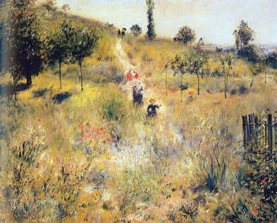 Pierre August Renoir, Country Footpath in the Summer Fine Art Reproduction Oil Painting