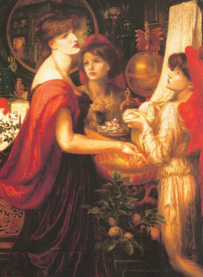 Dante Gabriel Rossetti, La Bella Mano Fine Art Reproduction Oil Painting