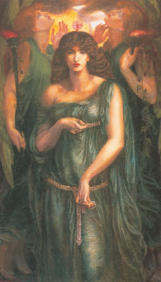 Dante Gabriel Rossetti, Astarte Syriaca Fine Art Reproduction Oil Painting