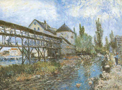 Alfred Sisley, Provenchers Mill at Moret Fine Art Reproduction Oil Painting