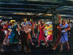 Reginald Marsh, Subway-14th Street Fine Art Reproduction Oil Painting